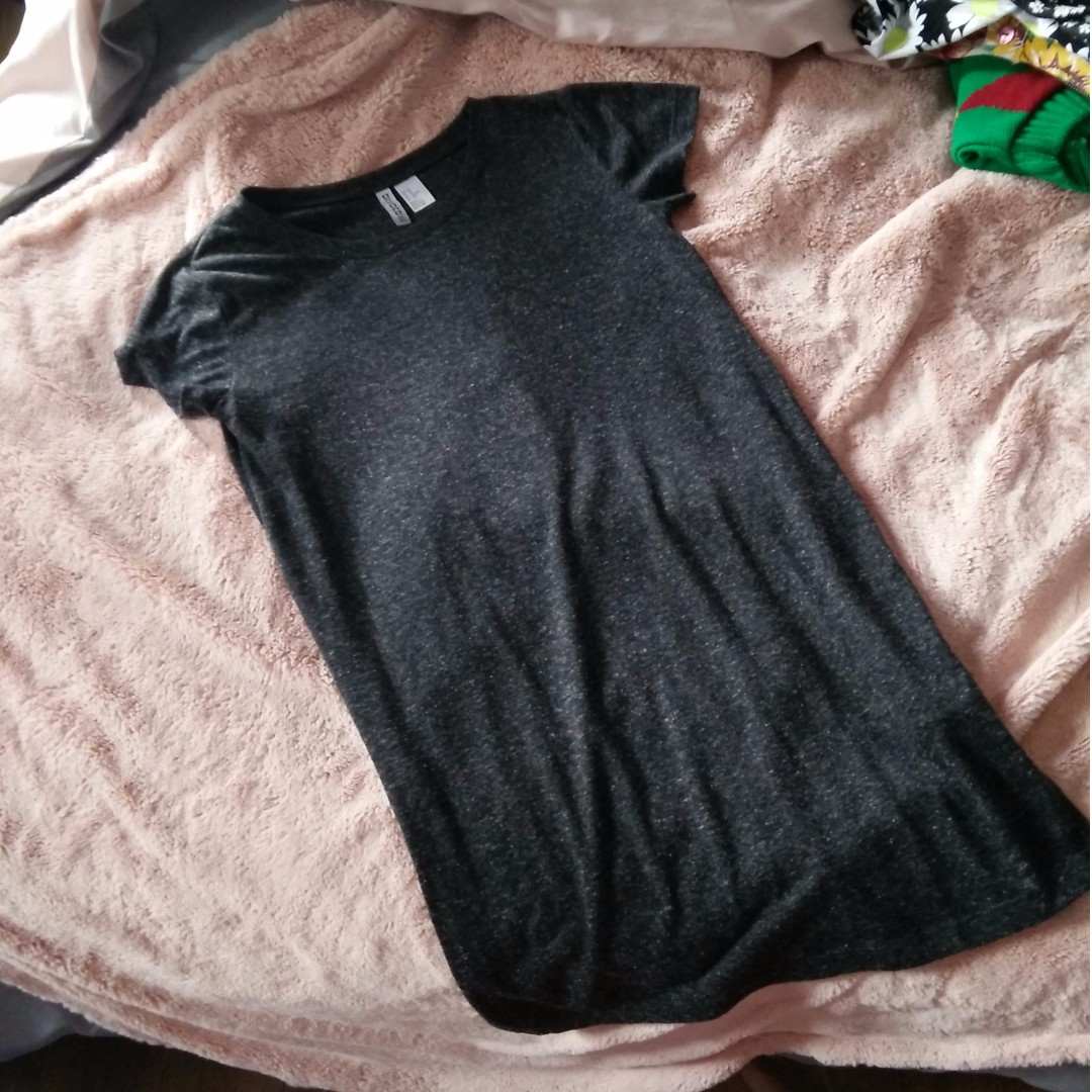 H&M Dark Heather Grey T-Shirt Dress