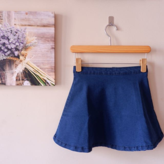 H&M Denim skater skirt