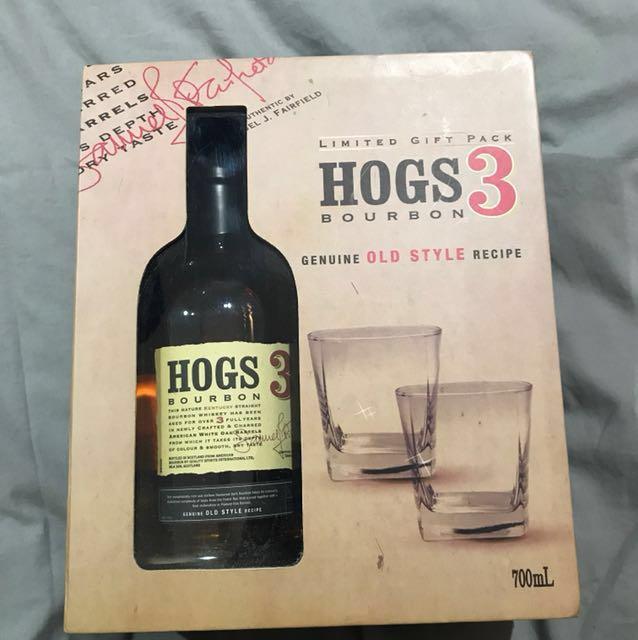 Hogs 3 bourbon box set