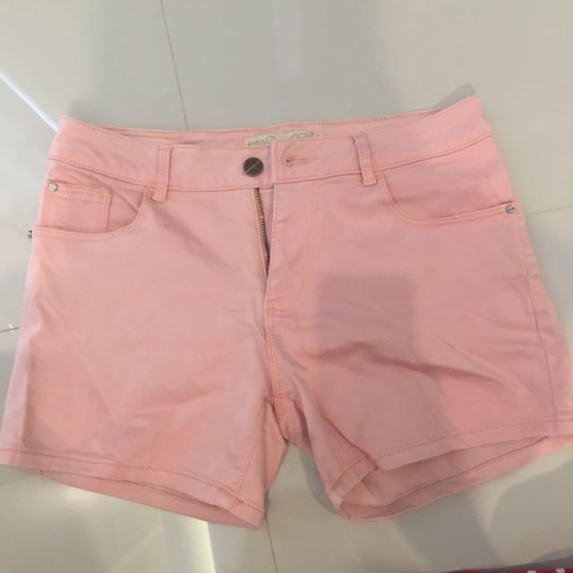 Hotpants zara peach