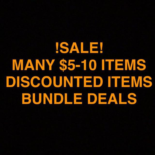 HUGE SALE! PRICES LOWERED