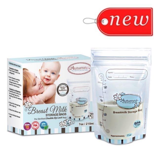 Instock Brand New Autumnz Breastmilk Breast Milk Storage Bags (25pcs)