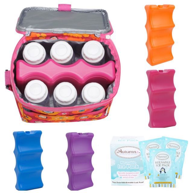 Instock Brand New Premium Contoured Ice Pack / Ice Gel Pack For Breast Milk Storage Cooler Bags (Bag Not Included, Separate Purchase)