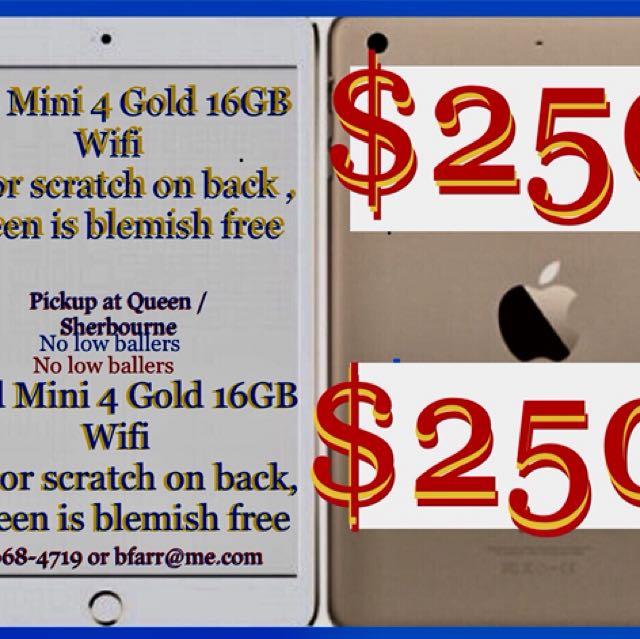 iPad Mini 4 Wifi Gold 16 GB