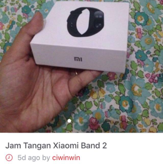 Jam tangan xiaomi band 2(turun harga)