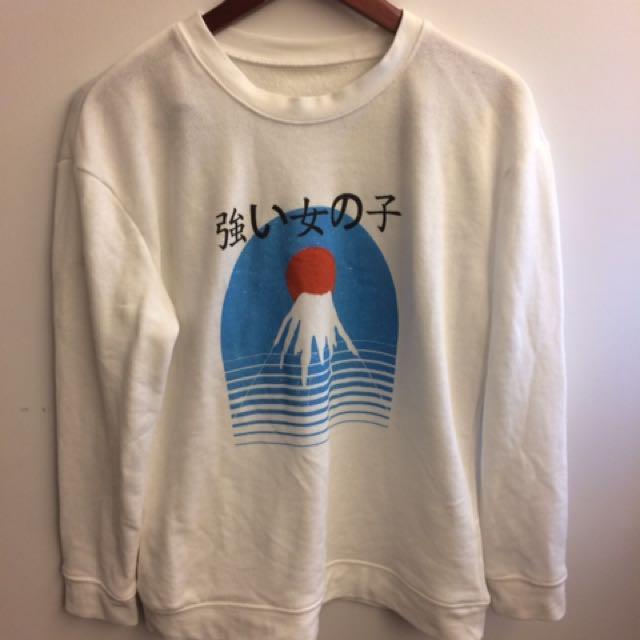 Japanese print sweater
