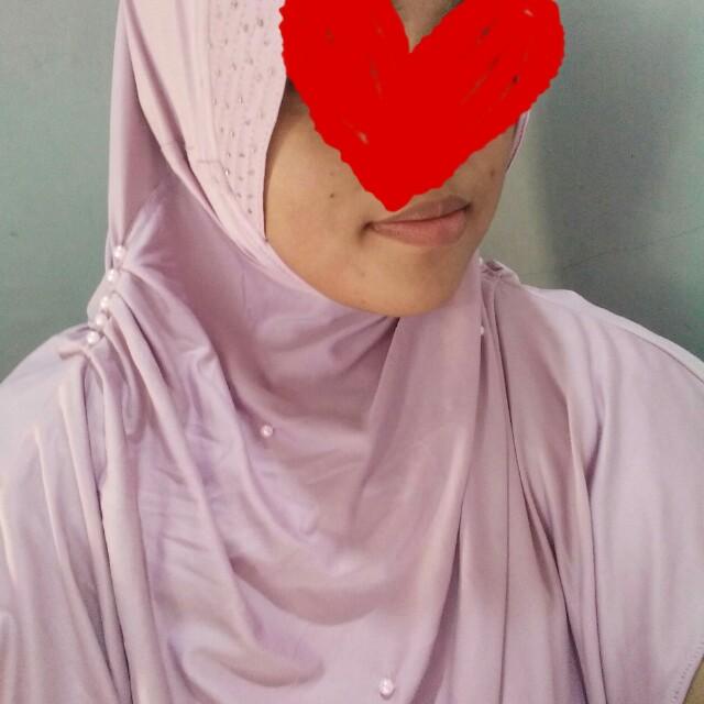 Jilbab syar i mutiara