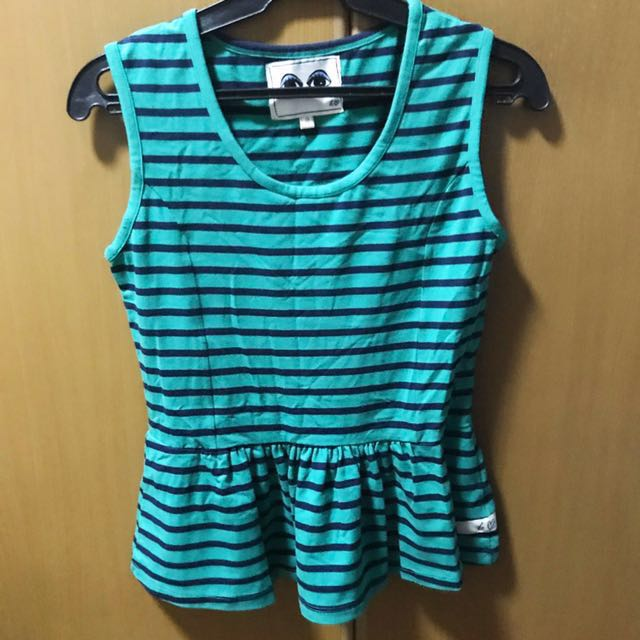 Kamiseta Stripes Peplum Top