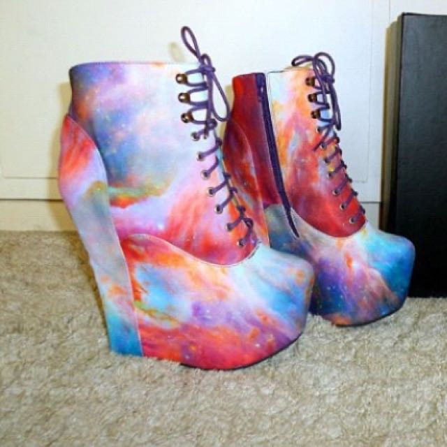 Limited edition Jeffrey Campbell X Blackmilk Clothing collaboration boots