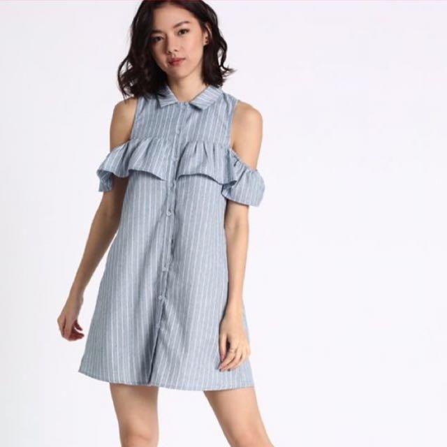 fe2a15b5d2 Love Bonito Fayrie stripped off-shoulder dress (BNWT)
