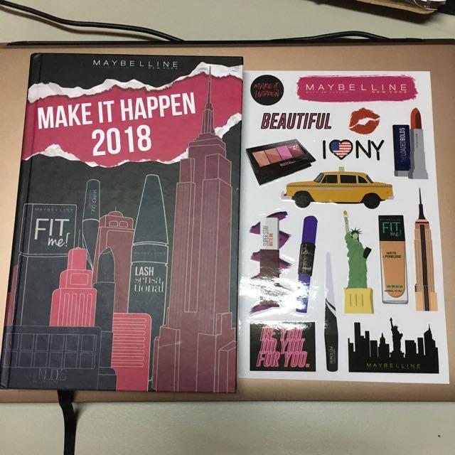 Maybelline Make It Happen 2018 Planner