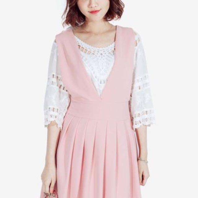 Mayuki Pink pinafore dress