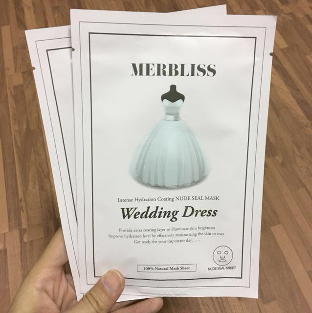 韓國Merbliss新娘婚紗面膜2片