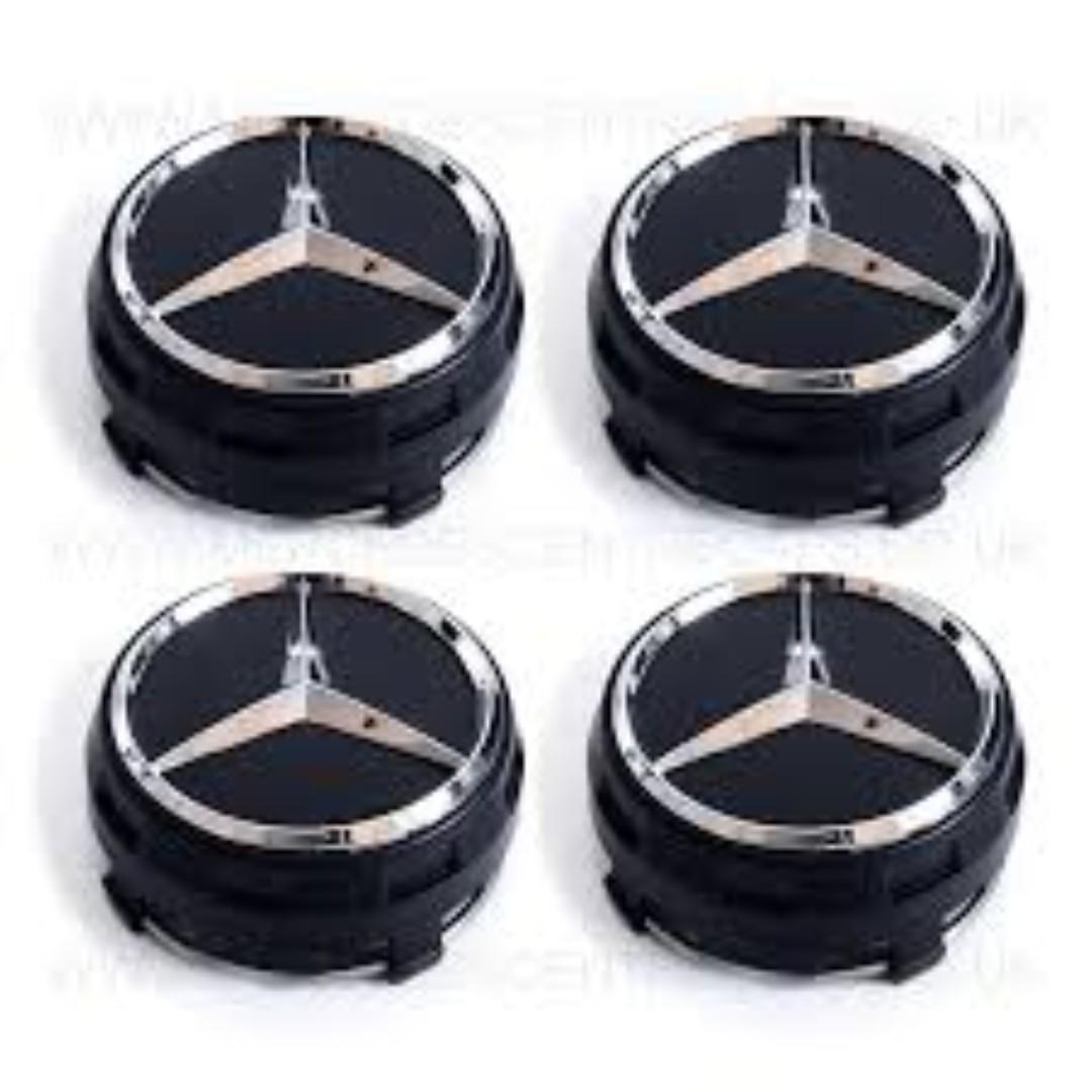 8e1a821b4b9 Mercedes Benz AMG Wheel Center Cap (BLACK)