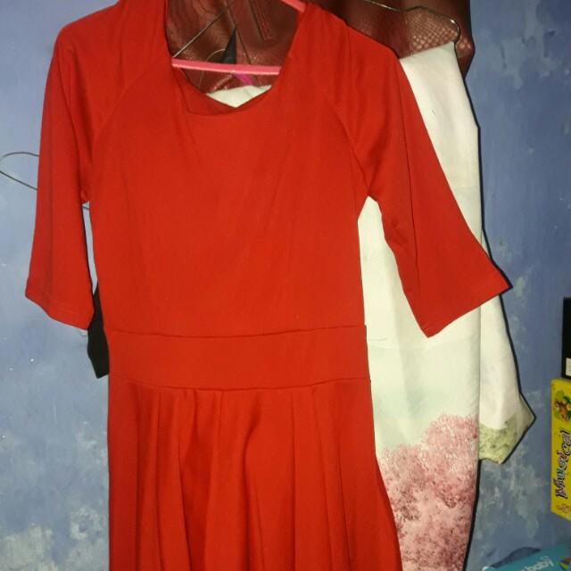 Mini dress lengan 3/4