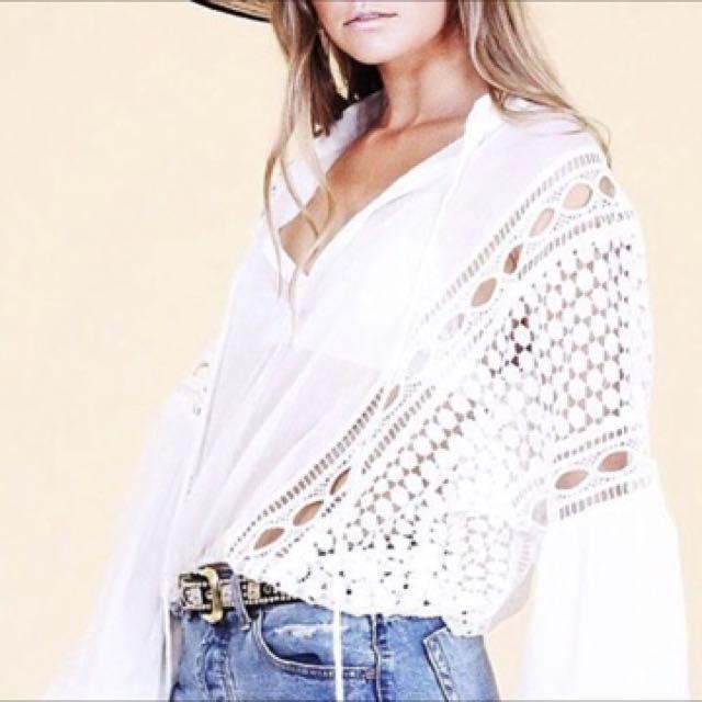 MVN white blouse