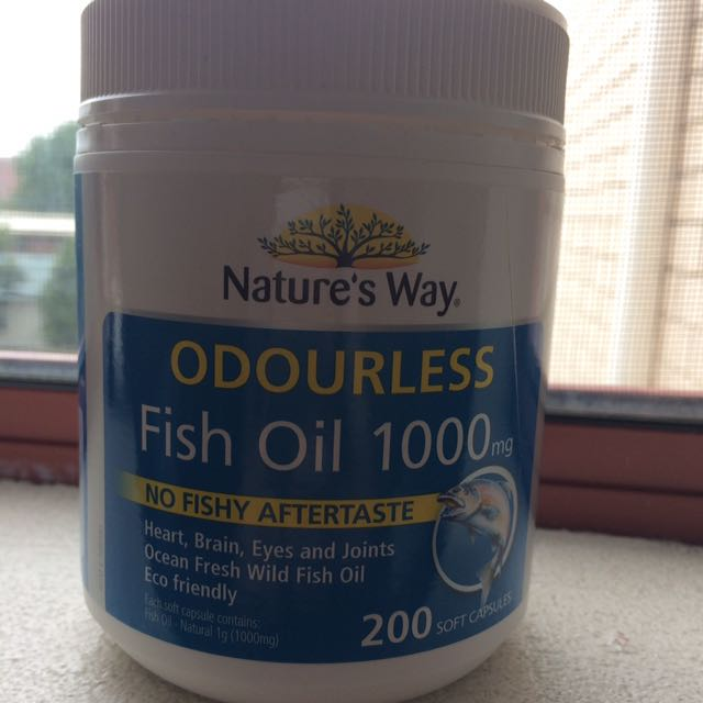 Nature's way odourless fish oil 1000mg