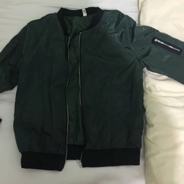 c7d088349ddd Navy Green Bomber Jacket