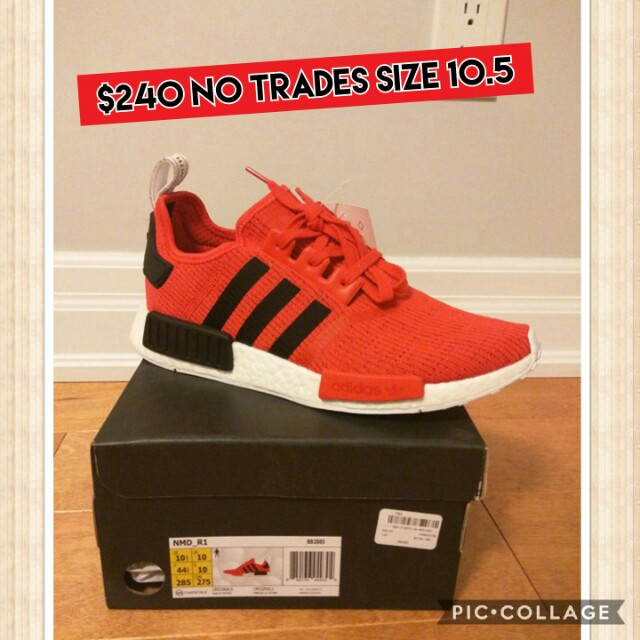 Nmds red adidas shoes