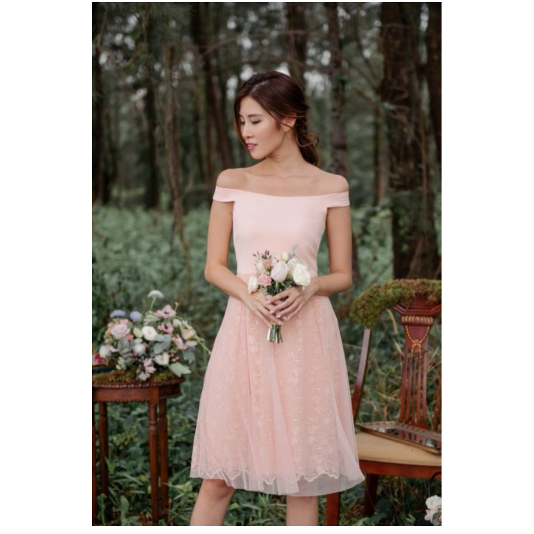 744b4fba657a Odette In Love Offshoulder Dress (Pink), Women's Fashion, Clothes ...