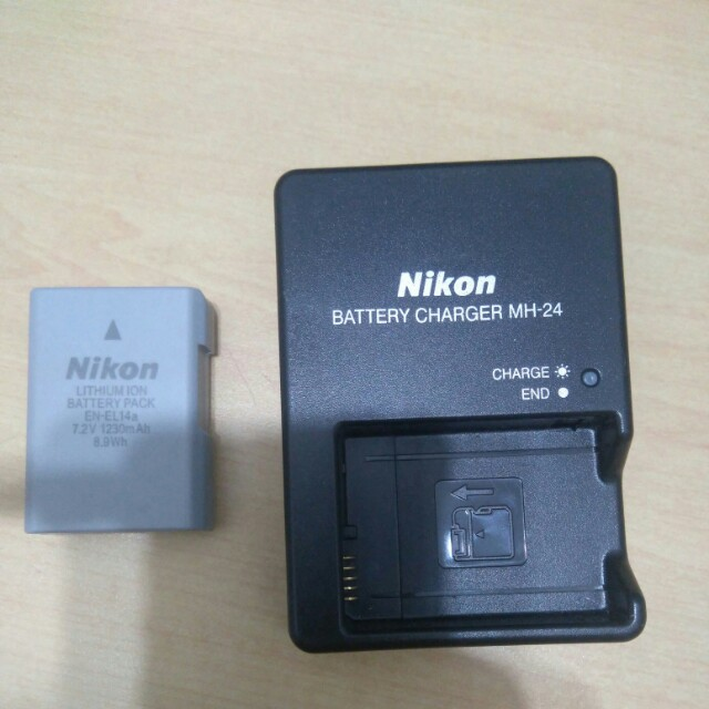 [OEM] NIKON EN-EL14 + MH-24 Charger, Photography on Carousell