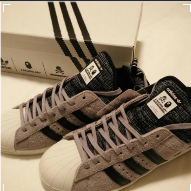 ca1e8931c7384 On Hand  Authentic New Adidas Superstar Boost X Bape X Neighborhood ...