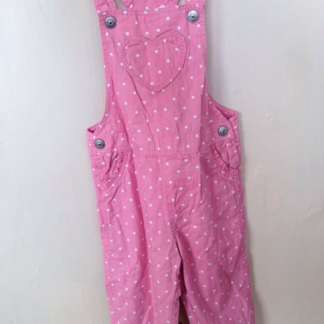 Overall h&m pink polka