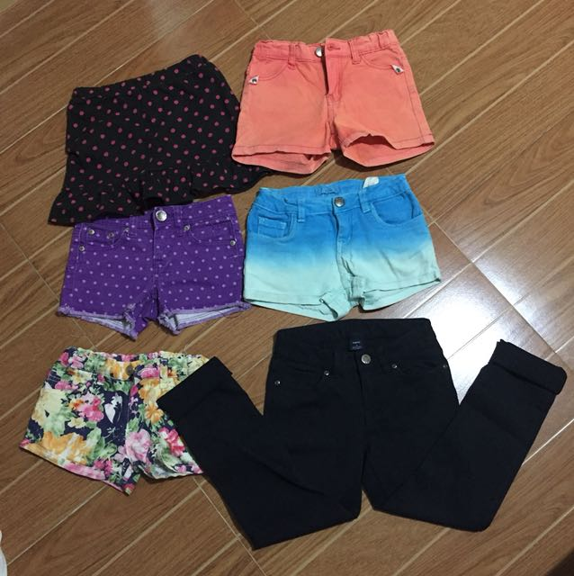 Pants and shorts for girls (6-8yrs old) 50each