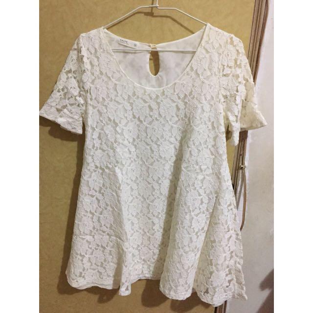 Pazzo 純白蕾絲洋裝
