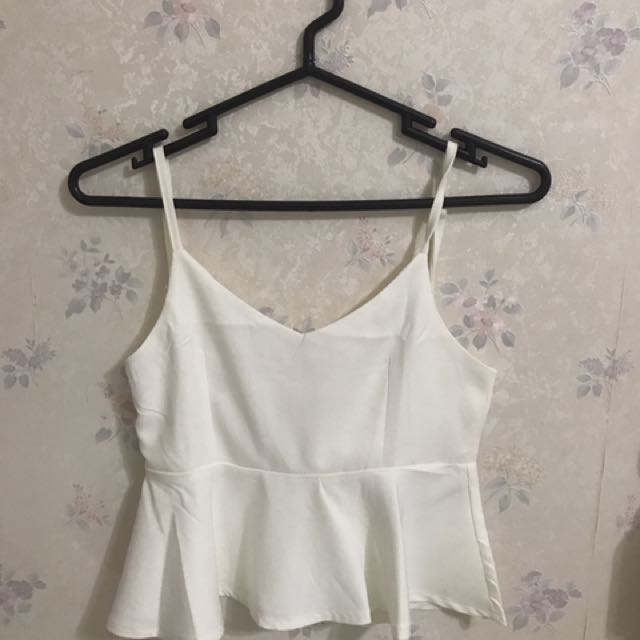 Peplum Top (white)