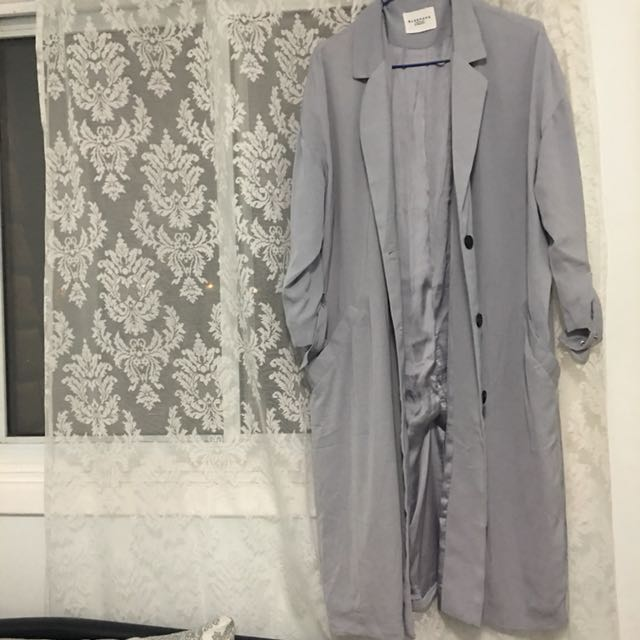 Periwinkle duster coat