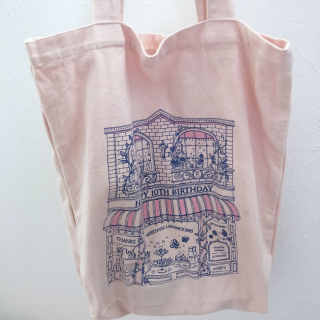 Pink tote bag from etude house