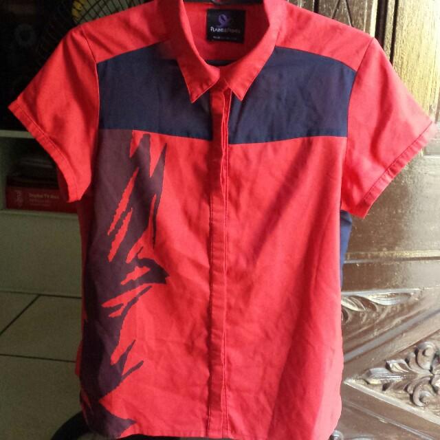 Plains and Prints blouse