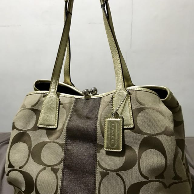 Pre-loved authentic coach bag monogram design