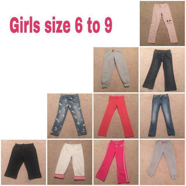 Preloved Girls Mix Jeans & Jogging Pants