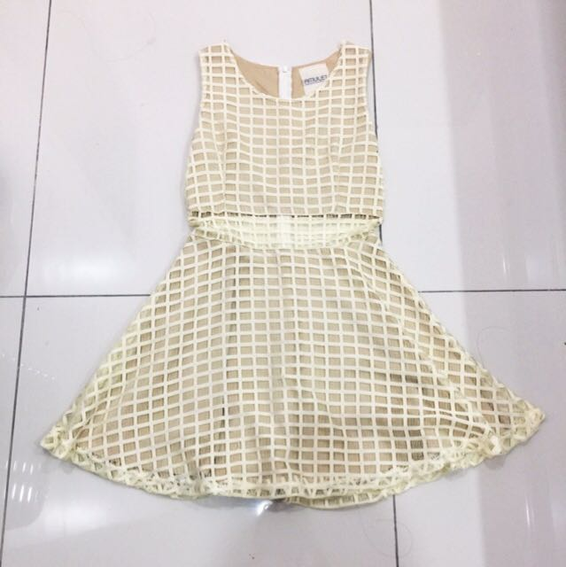 Premium grid dress
