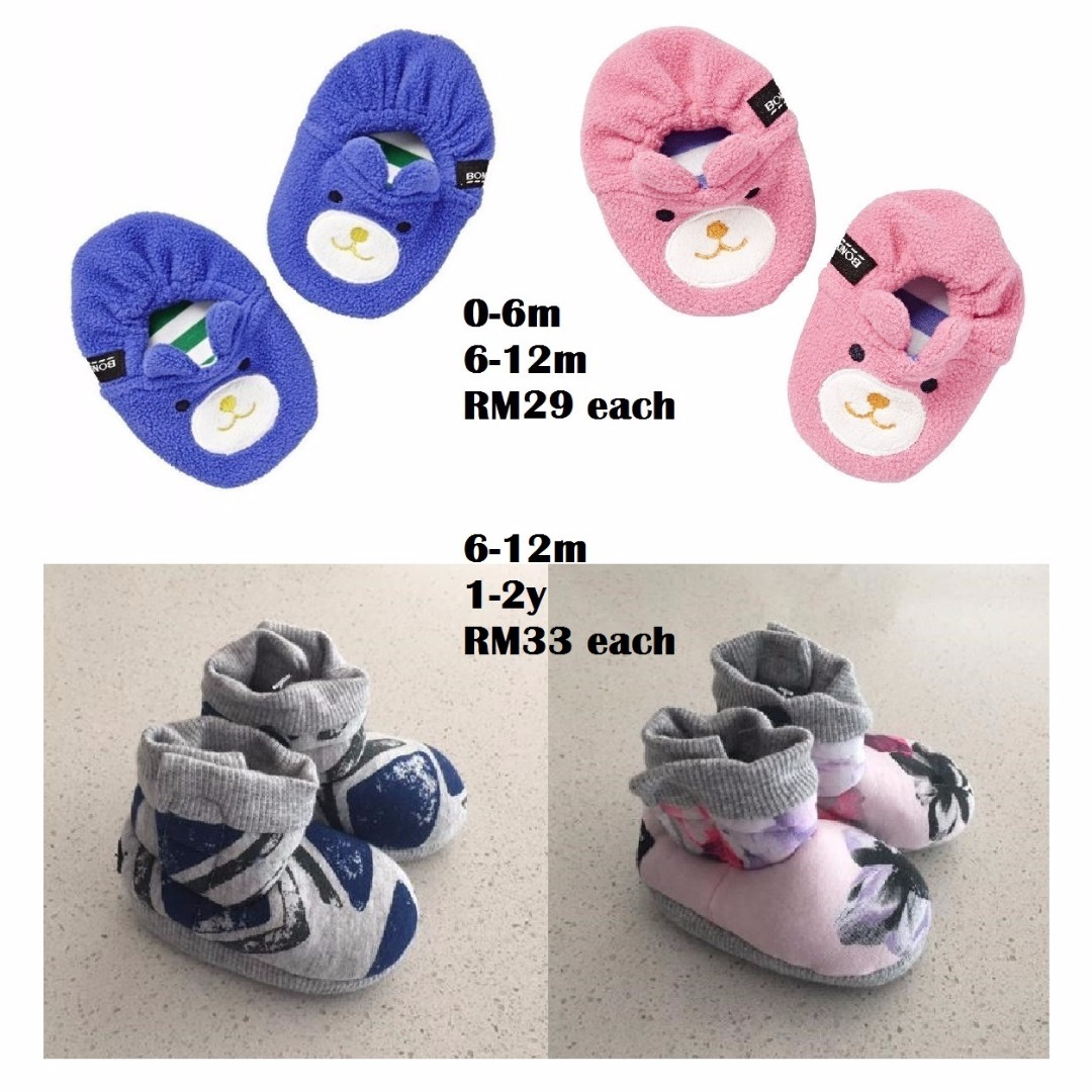 PRE-ORDER BONDS Animal Slippers, Wonder Booties for 0-2y