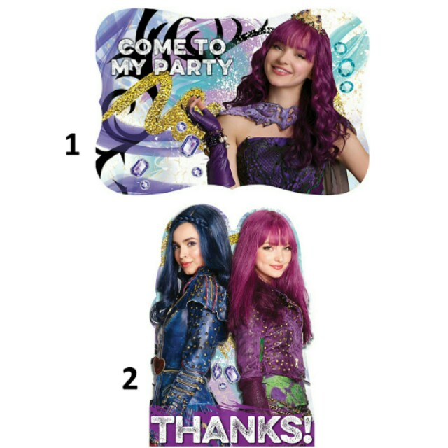 Pre Order Licensed Descendants 2 Birthday Party Invitations And