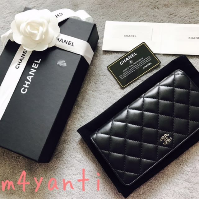 30647479a3f8 *Price reduced to 1K* Chanel Classic Long Wallet in Quilted Lambskin Leather,  Bi-Fold Porter Yen, Luxury, Bags & Wallets on Carousell