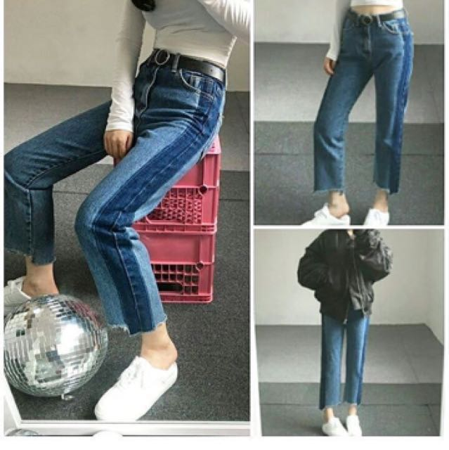 READY LAGI Korean two toned jeans ombre