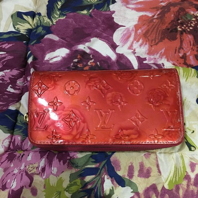 Reprice Floral Red Louis vuitton Wallet