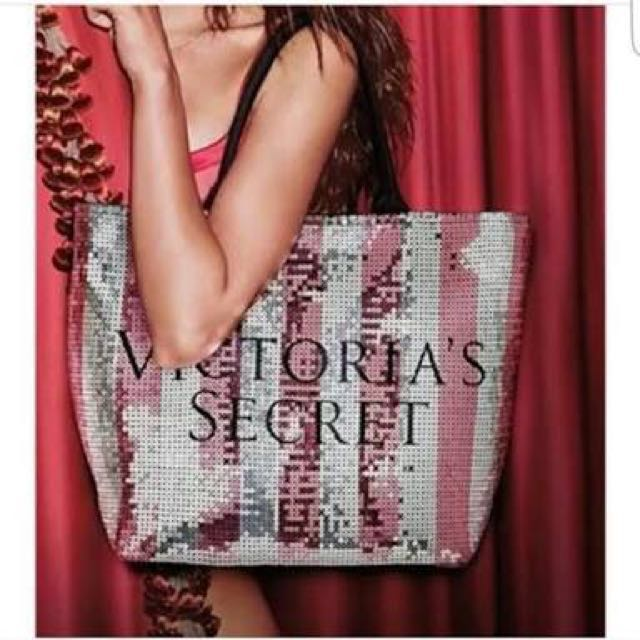 REPRICED! Victoria's Secret Pink Sequin Tote Bag