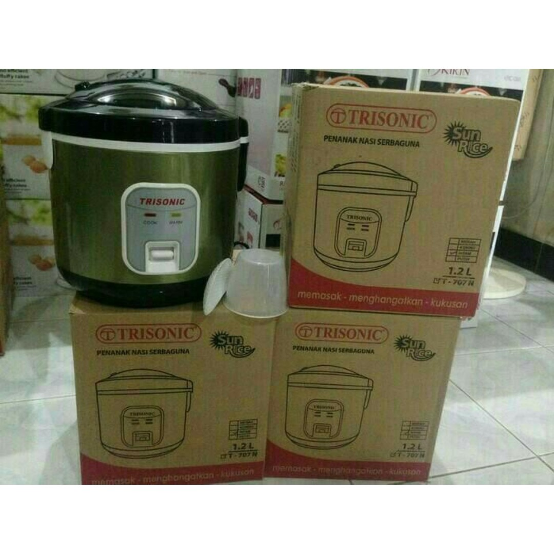 Rice Cooker TRISONIC T 707 N Besar 1,2 liter Seperti Cook Youngma Termurah, Everything Else on Carousell