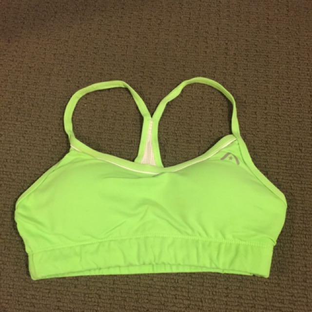 Rockwear green sports bra