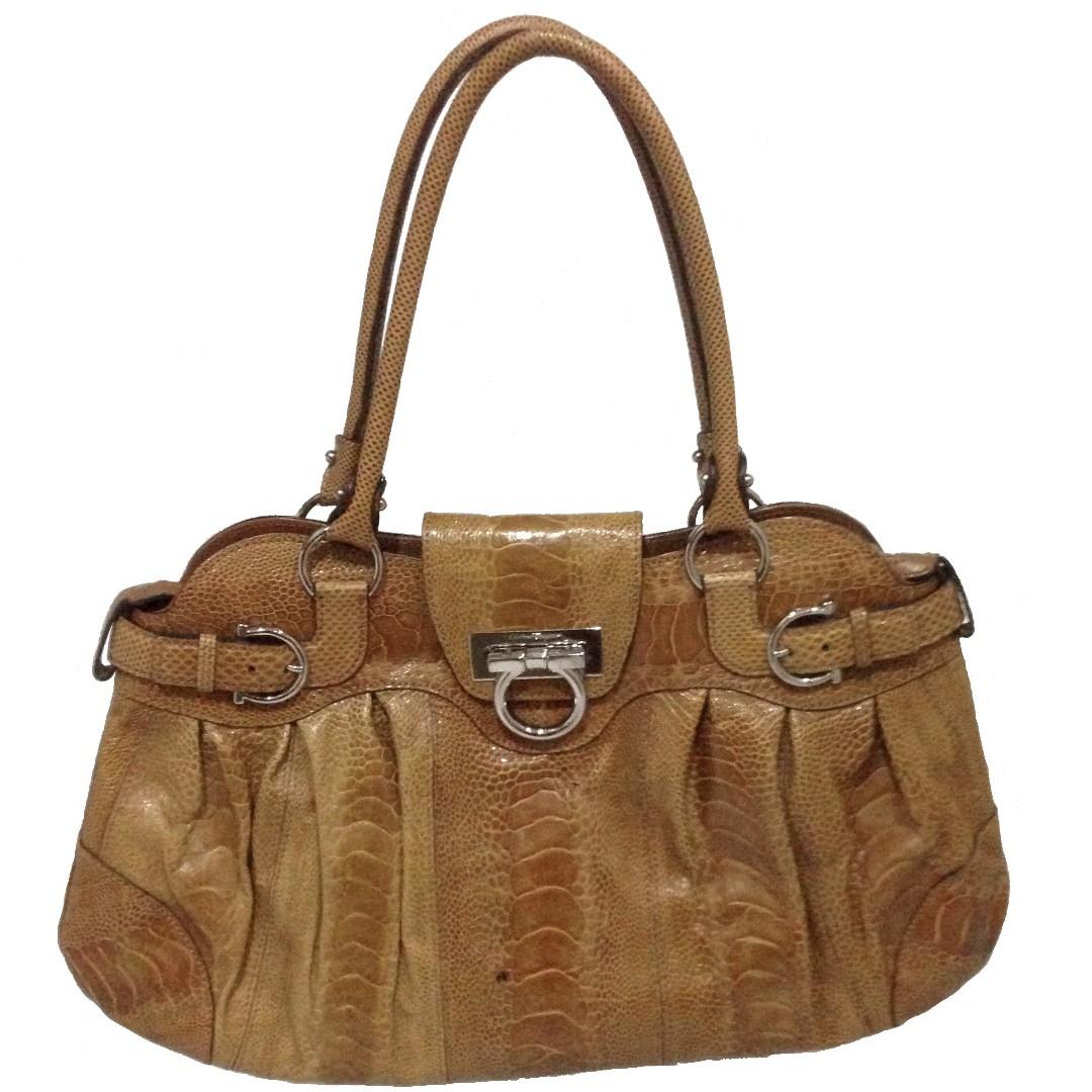 1e893e71df0 Salvatore Ferragamo Marisa Satchel Python Handbag, Luxury, Bags   Wallets  on Carousell