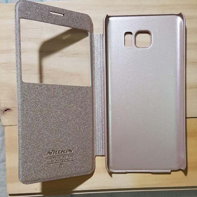 Samsung Note5 翻頁式透視皮套