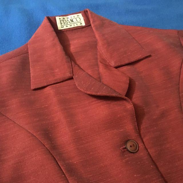 Satin office blouse