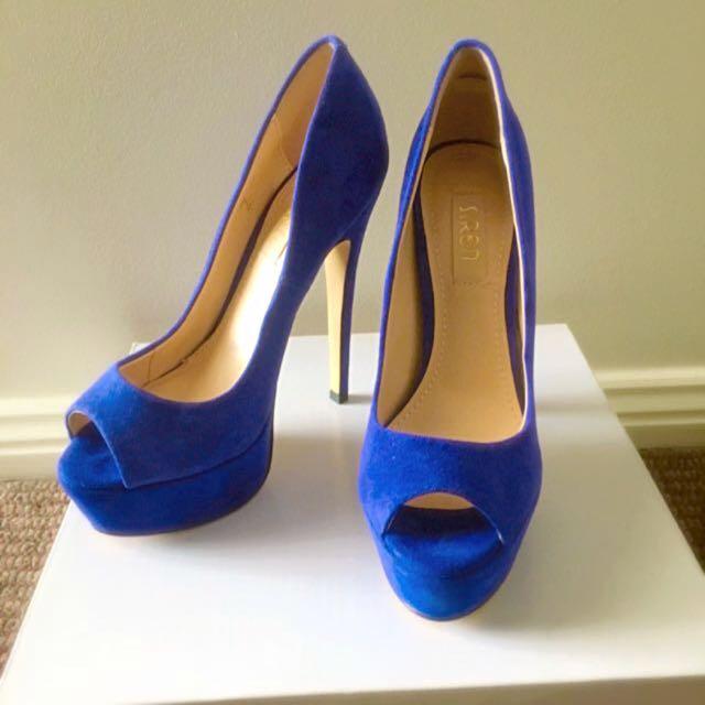 Siren Blue suede shoes