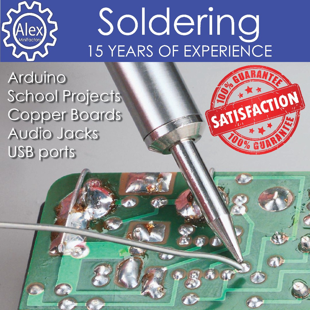 Soldering (Part 1)- Service Broken Copper Wires, School Projects , Copper Boards , PCB, Electrical electronic component repairs, audio jacks