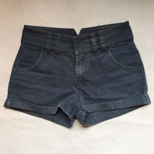 Space Black High-waist shorts
